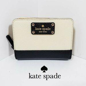 Kate Spade Black & Cream Two Tone Wallet